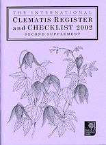 The International Clematis Register and Checklist 2002 - Second Supplement