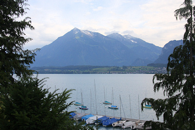 View from Hunegg Castle across Lake Thun