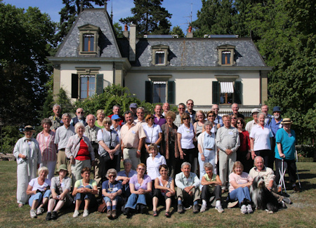 Switzerland 2009 Group Photo - Garden of Madame Moser