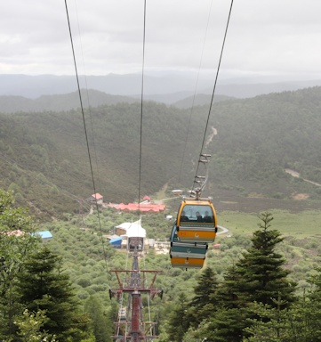 The view from underneath the Shika Shan cable car©Ken Woolfenden