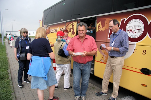 German Sausage lunch cooked by Tomas, our bus driver©Ken Woolfenden