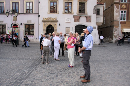 Our group in Warsaw Central Square©Ken Woolfenden
