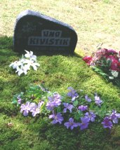 The grave of Uno Kivistik