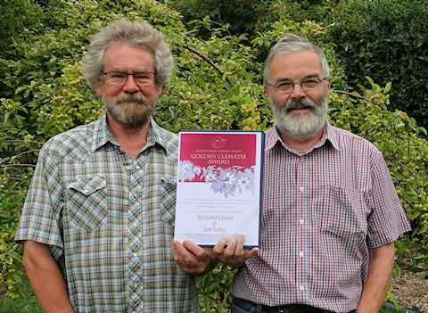 Ian Lang and Richard Green and their Golden Clematis Award