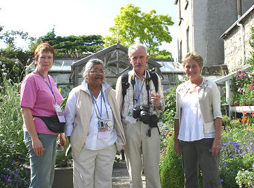 Left to right - Fiona Woolfenden, Dr. Mary Toomey, Szczepan Marczynski and Helen Dillon