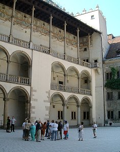 Courtyard in the Wawel, Krakow©K.Woolfenden