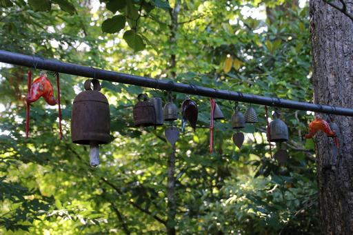 Complementary row of smaller bells©Ken Woolfenden