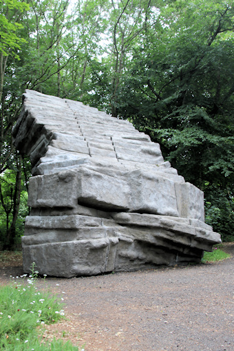 Falling down staircase in The Quarry by Phyllida Barlow©Ken Woolfenden