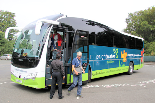 Our Brightwater-livery coach, dropping us off at RBGE©Ken Woolfenden