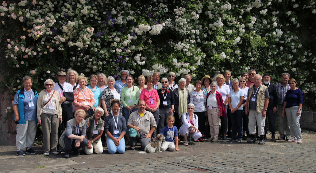 Group photo taken outside Wemyss Castle©Ken Woolfenden