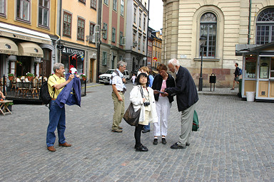 Gamla Stan, Stockholm with our guide, Ulf Svensson