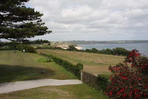 Carlyon Bay Hotel, view across the bay©Ken Woolfenden