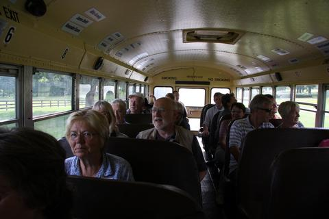 Taking our seats on the bus©Ken Woolfenden