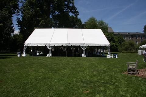 Lunch marquee at Swarthmore College