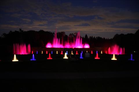 Longwood Gardens - Music, Light and Water Display